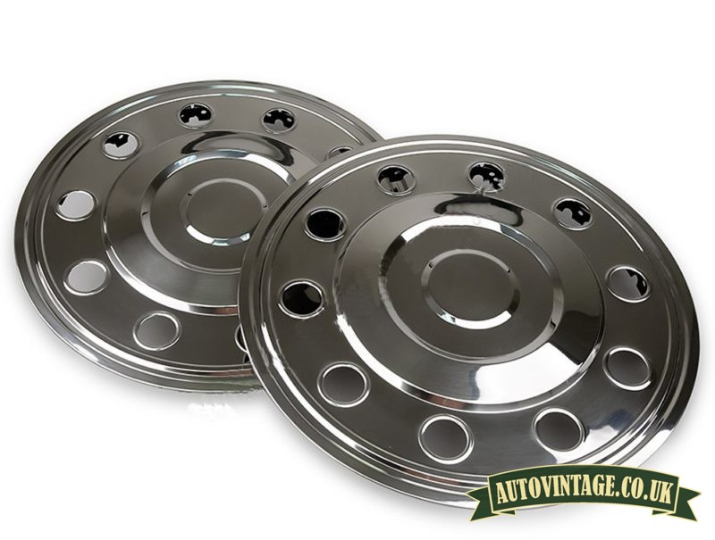 """16"""" Rear stainless steel hubcaps for sale"""