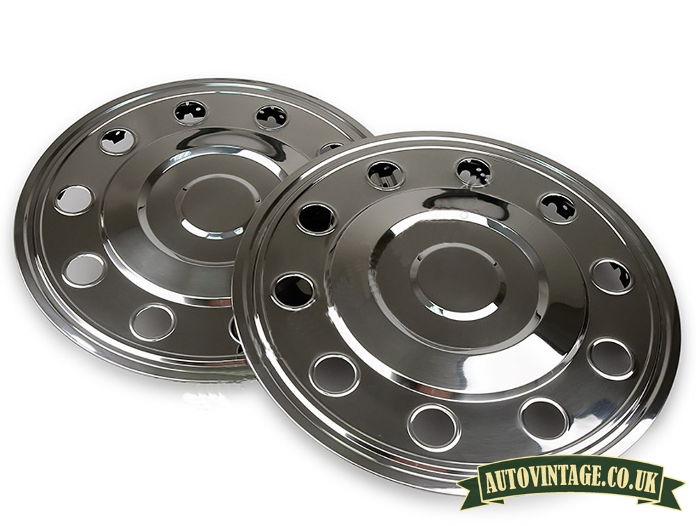 """16"""" Rear stainless steel hubcaps"""